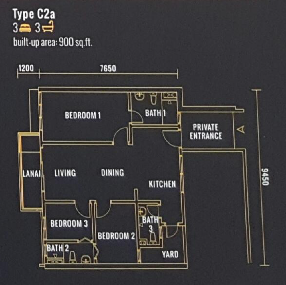 Pinnacle Type C2a Floor Plan