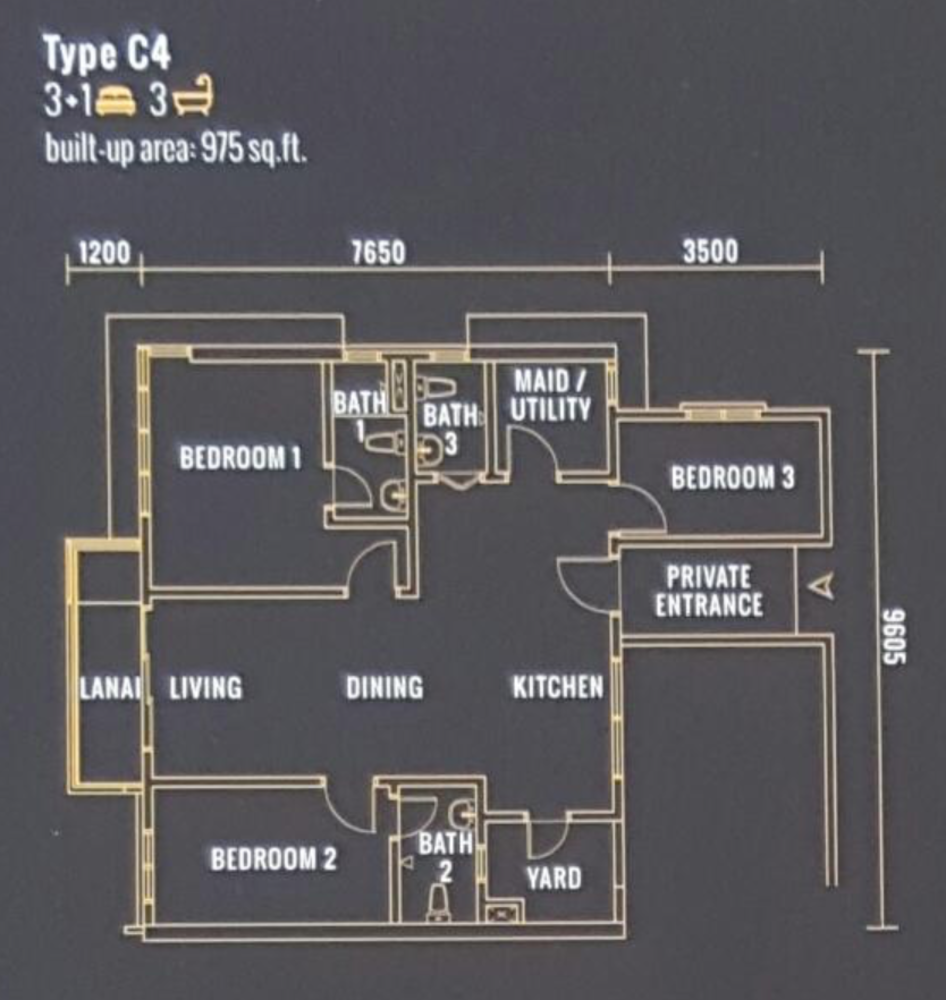 Pinnacle Type C4 Floor Plan