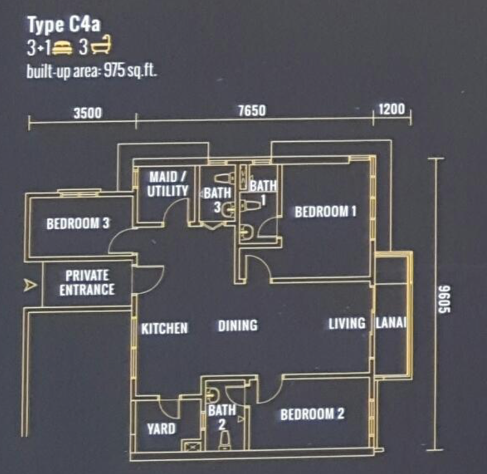 Pinnacle Type C4a Floor Plan