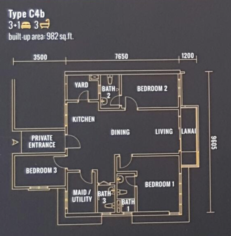 Pinnacle Type C4b Floor Plan