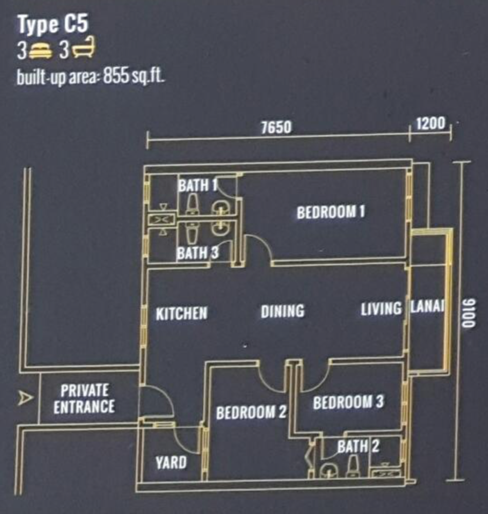 Pinnacle Type C5 Floor Plan