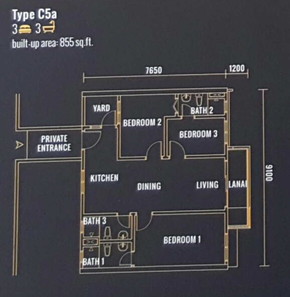 Pinnacle Type C5a Floor Plan