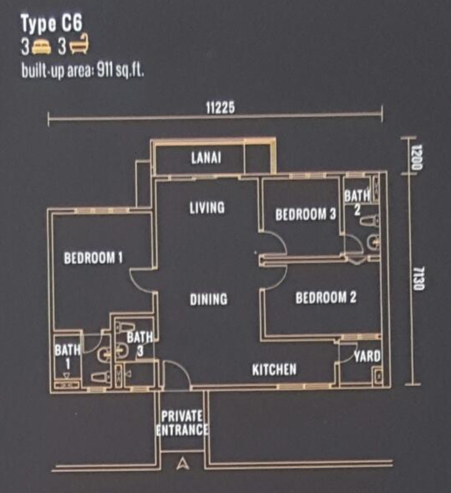 Pinnacle Type C6 Floor Plan