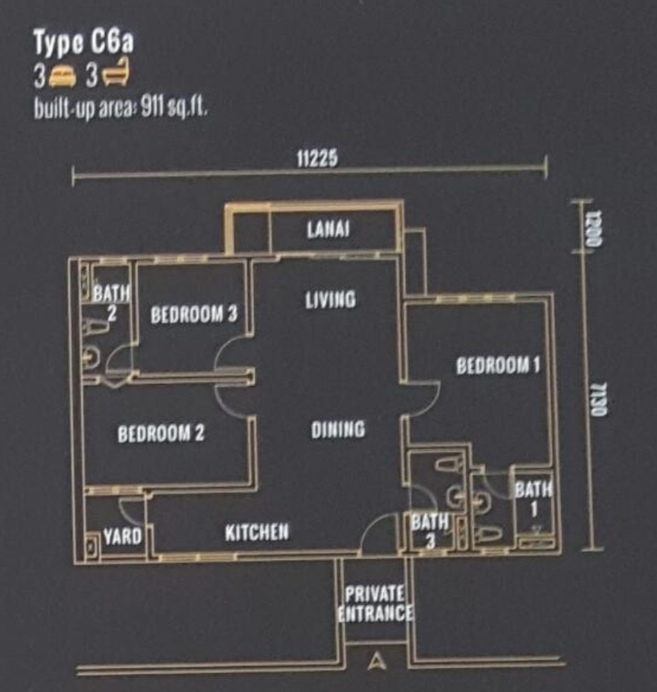 Pinnacle Type C6a Floor Plan