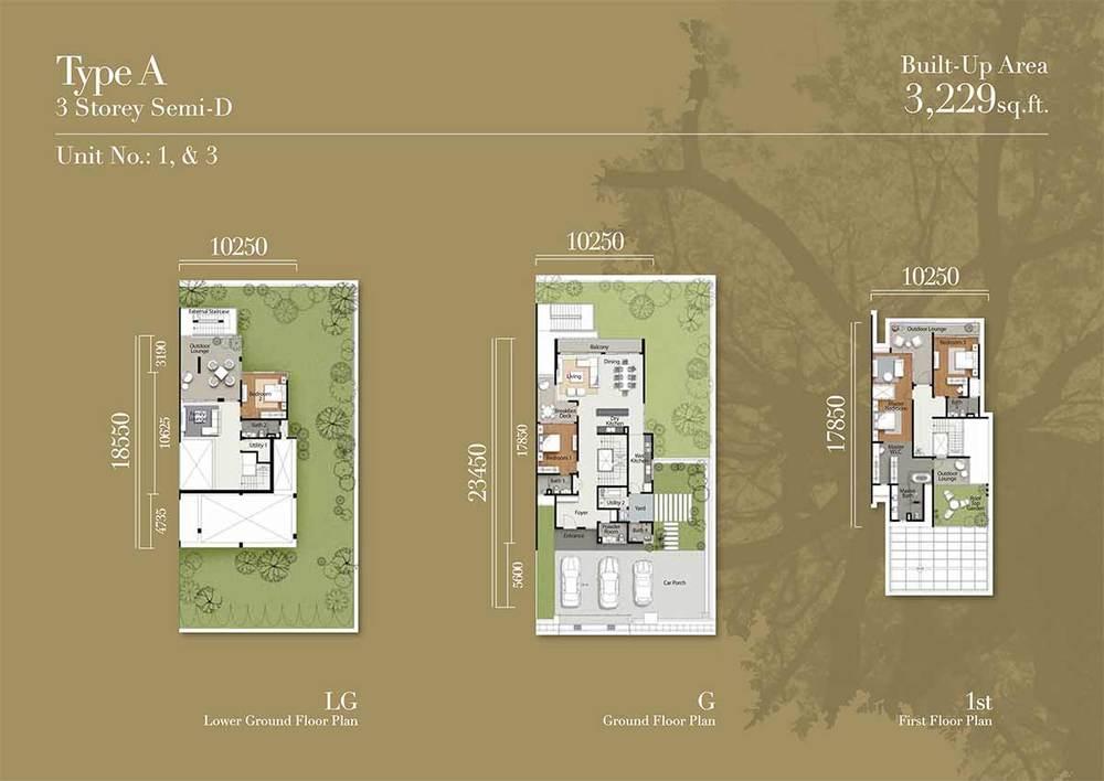 Tréhaus Type A Floor Plan