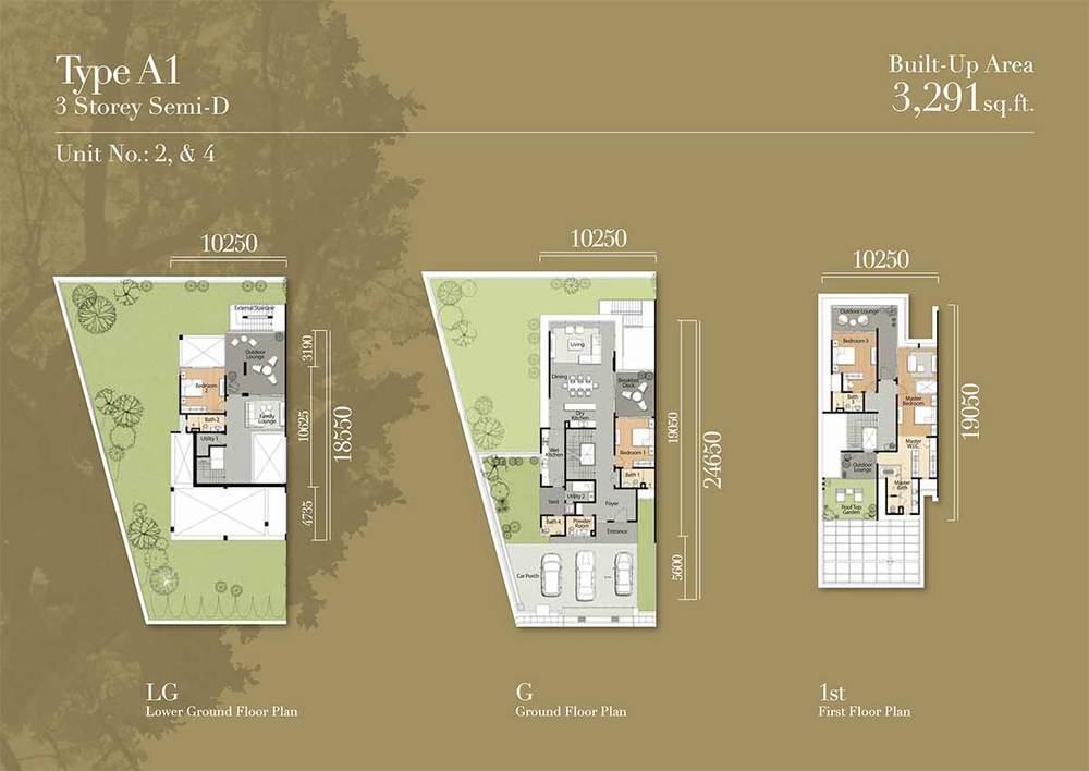 Tréhaus Type A1 Floor Plan