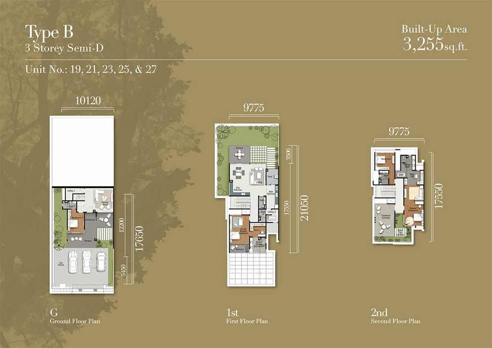 Tréhaus Type B Floor Plan