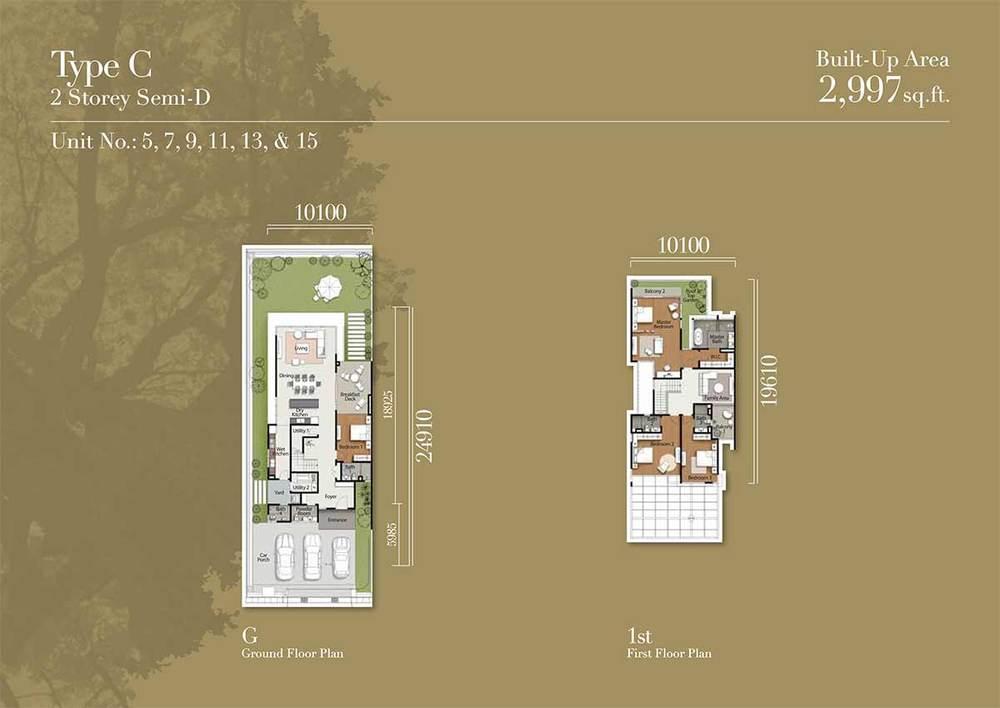 Tréhaus Type C Floor Plan