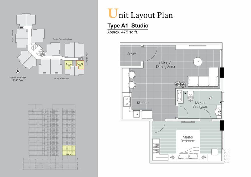 D'Festivo Residences Studio Suite - Type A1 Floor Plan
