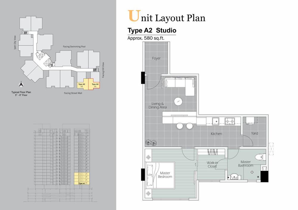 D'Festivo Residences Studio Suite - Type A2 Floor Plan