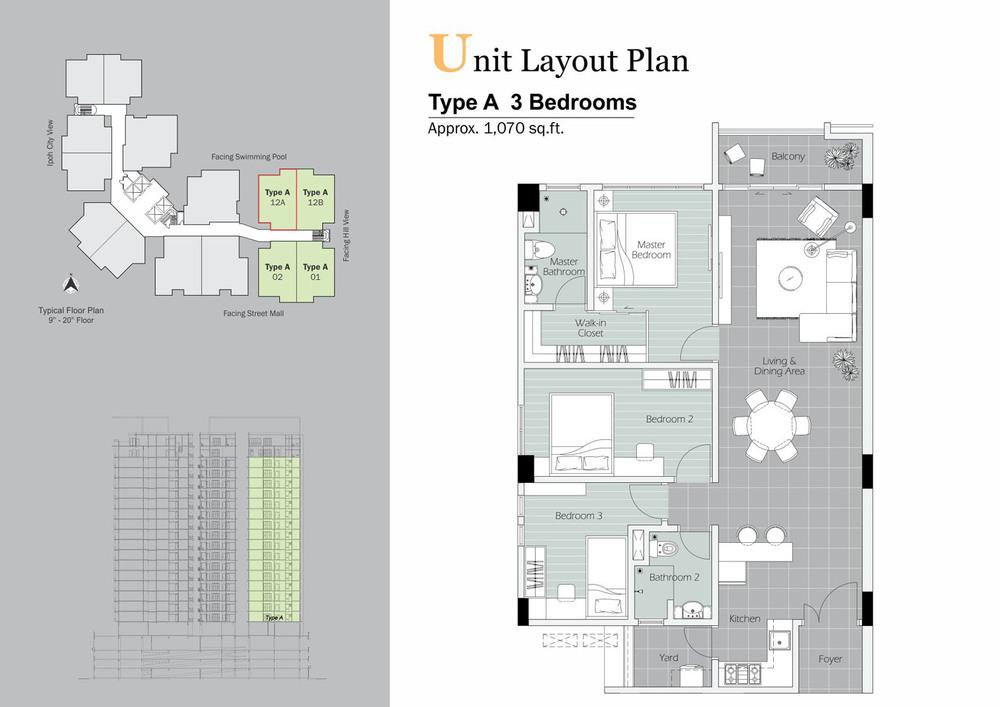 D'Festivo Residences Standard - Type A Floor Plan