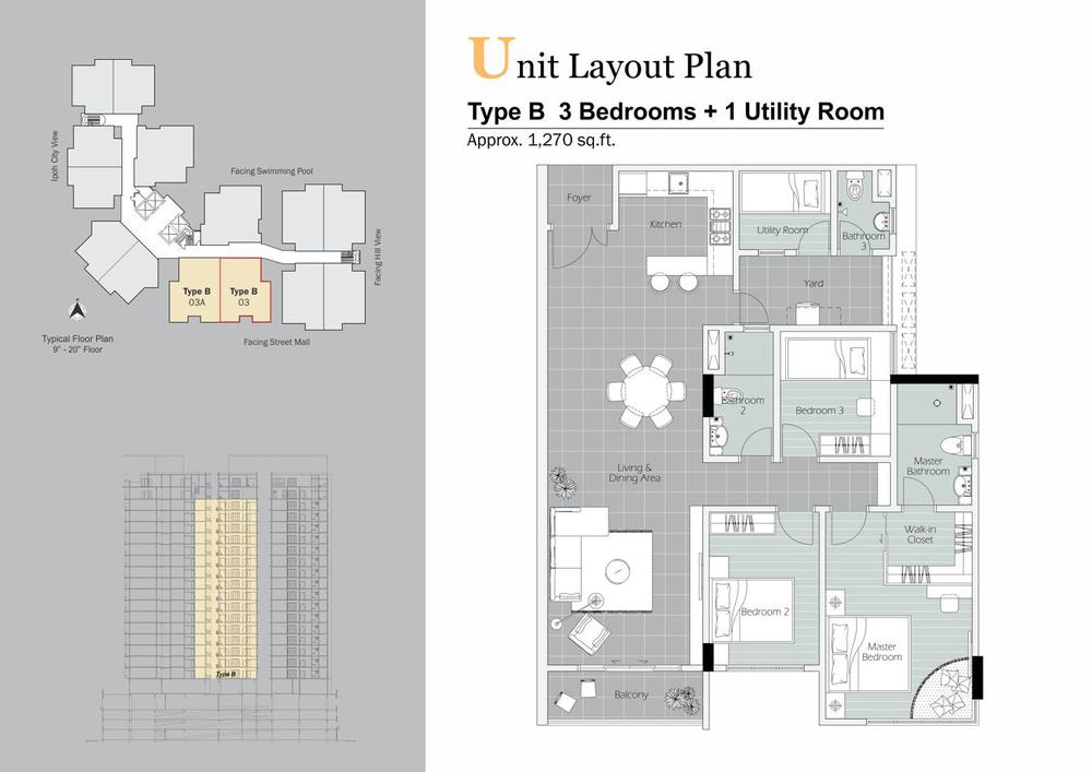 D'Festivo Residences Standard - Type B Floor Plan