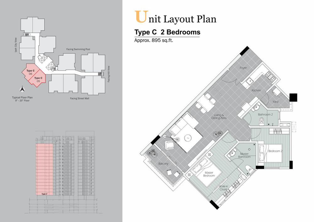 D'Festivo Residences Standard - Type C Floor Plan