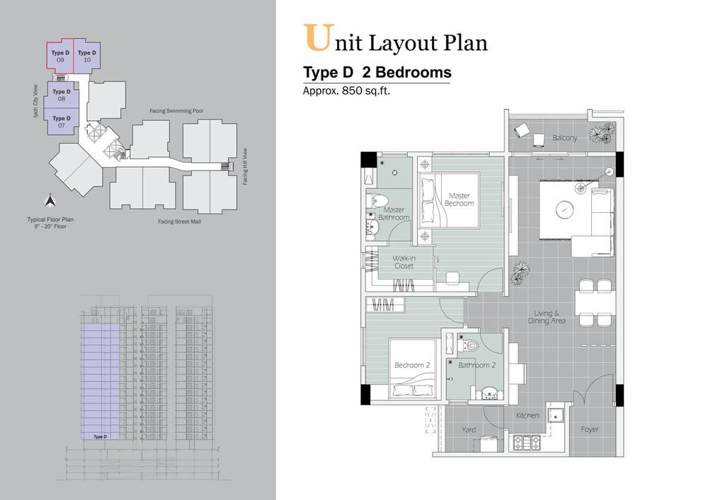 D'Festivo Residences Standard - Type D Floor Plan