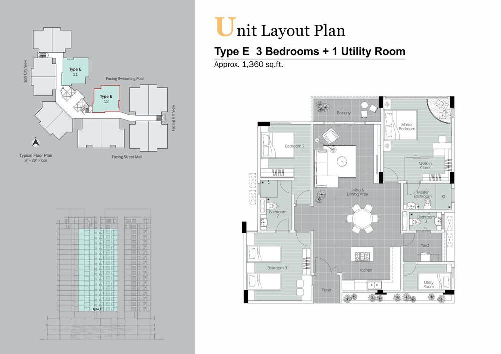 D'Festivo Residences Standard - Type E Floor Plan