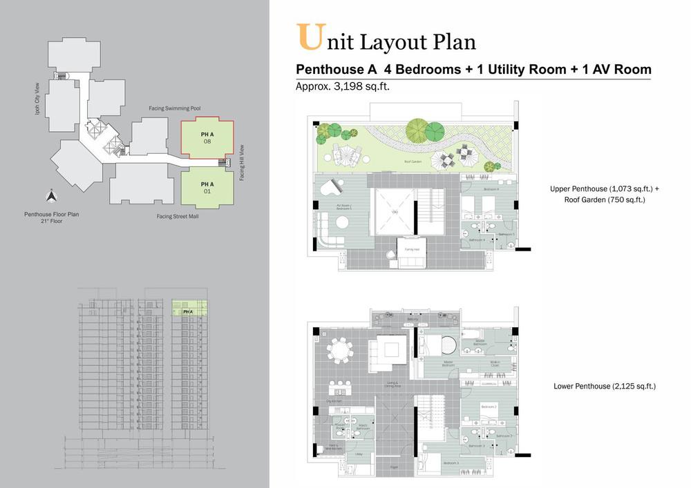D'Festivo Residences Penthouse - PH A Floor Plan
