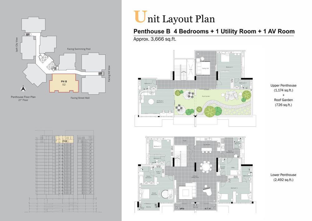 D'Festivo Residences Penthouse - PH B Floor Plan