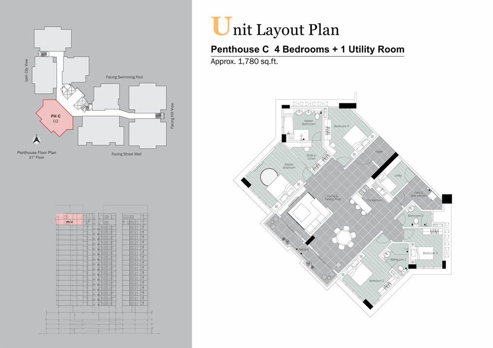 D'Festivo Residences Penthouse - PH C Floor Plan