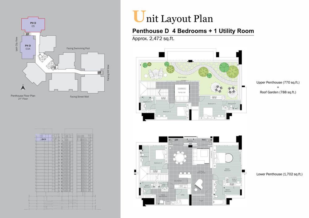 D'Festivo Residences Penthouse - PH D Floor Plan