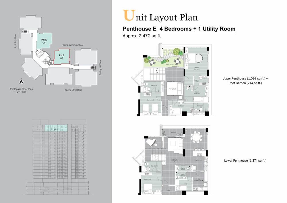 D'Festivo Residences Penthouse - PH E Floor Plan