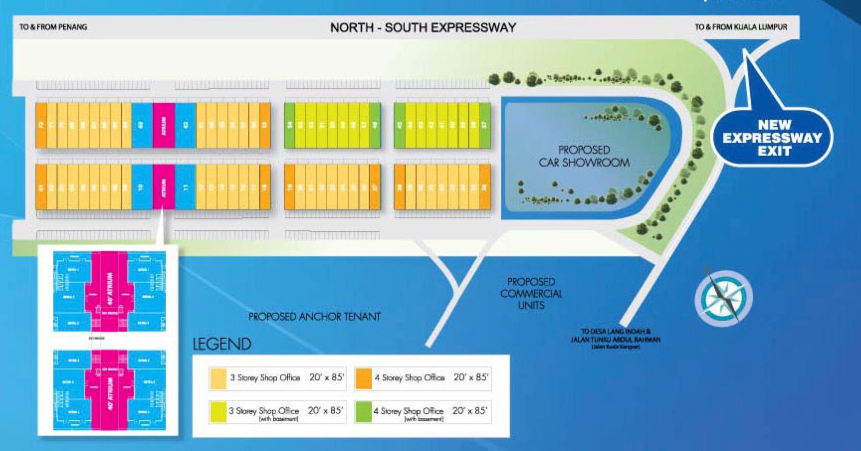 Site Plan of Atrio @ Lang Valley