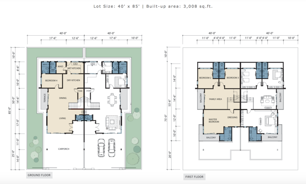 Tiara Lake Park Type 4K Floor Plan