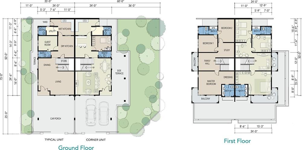 Meru Mutiara Standard (Phase 1B4-6) Floor Plan