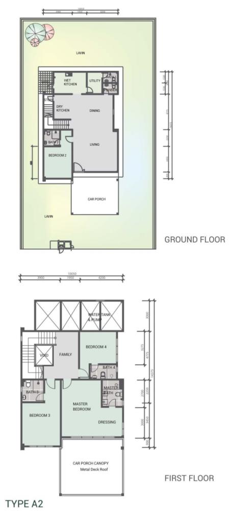 Sekata Vista Type A2 Floor Plan