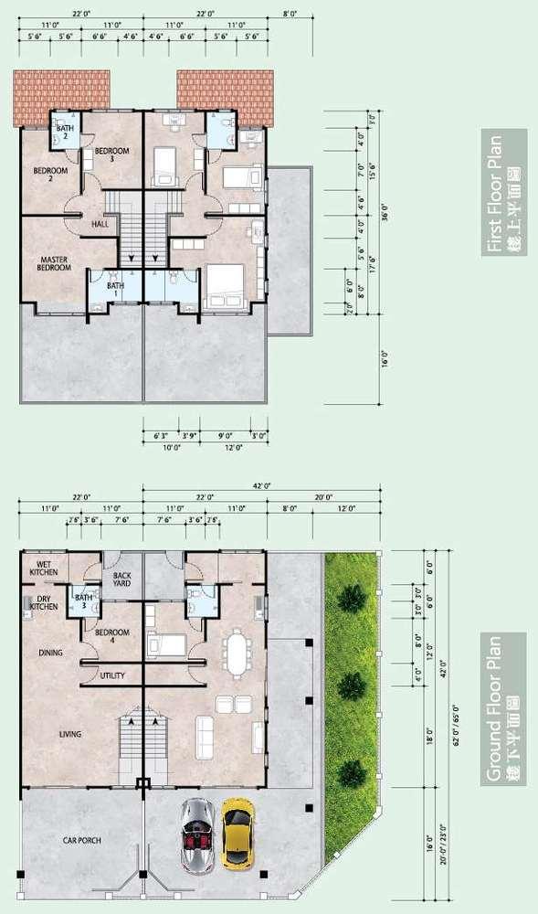Klebang Ria Phase 5Bi  Floor Plan