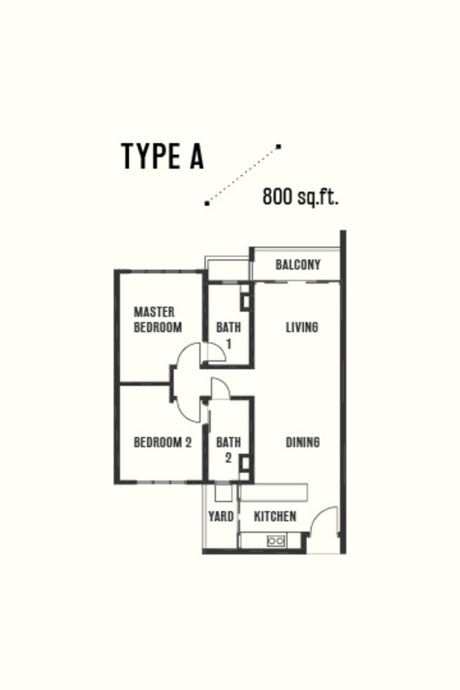 Razak City Residences Type A Floor Plan