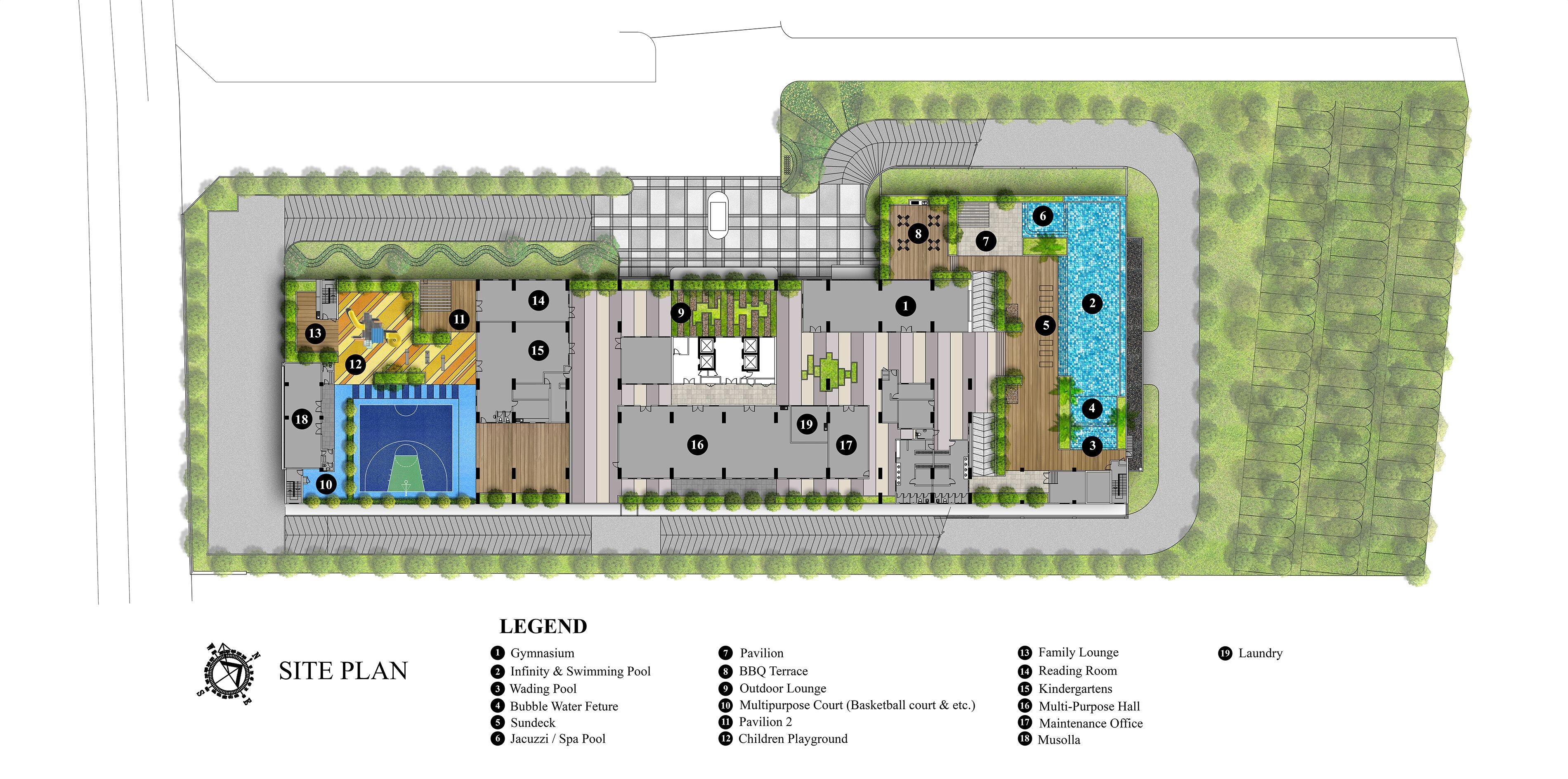 Site Plan of Iris Residence