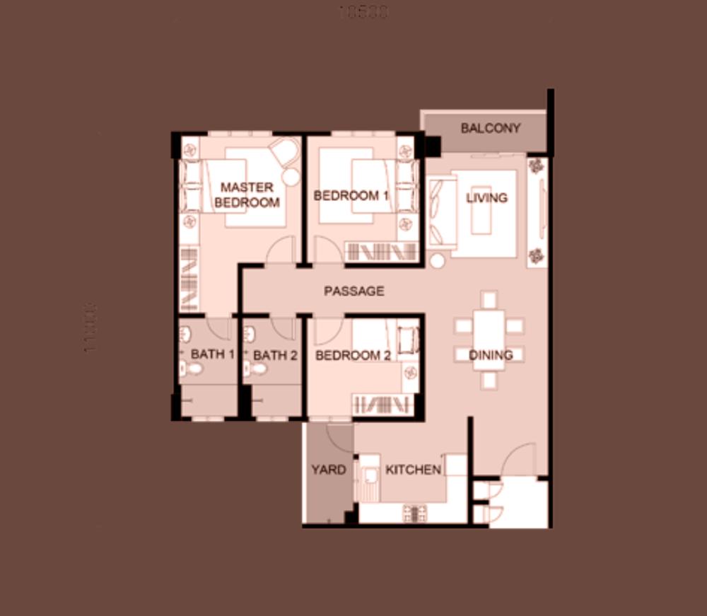 South Bayu Residences Sky Villa Floor Plan