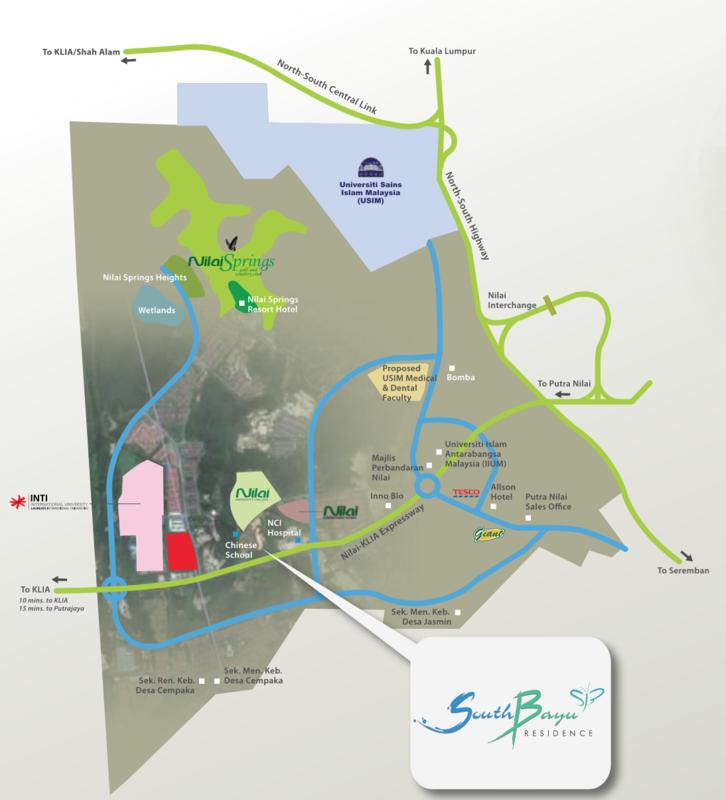 Master Plan of South Bayu Residences