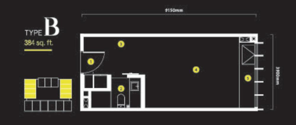 Ceylonz Suites Type B  Floor Plan