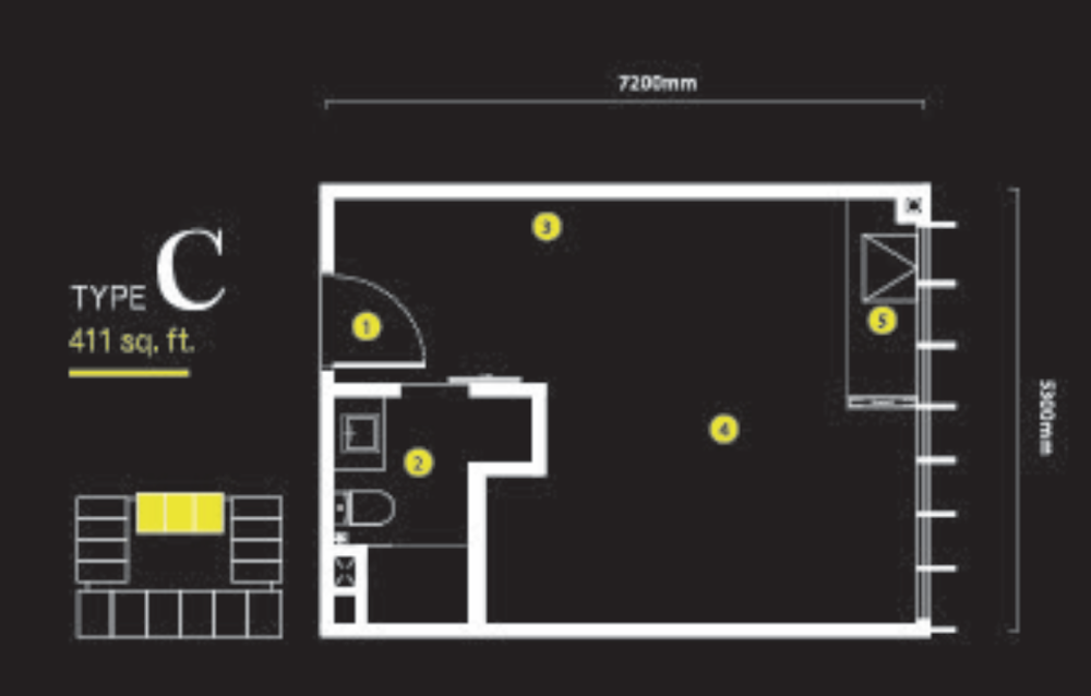 Ceylonz Suites Type C Floor Plan