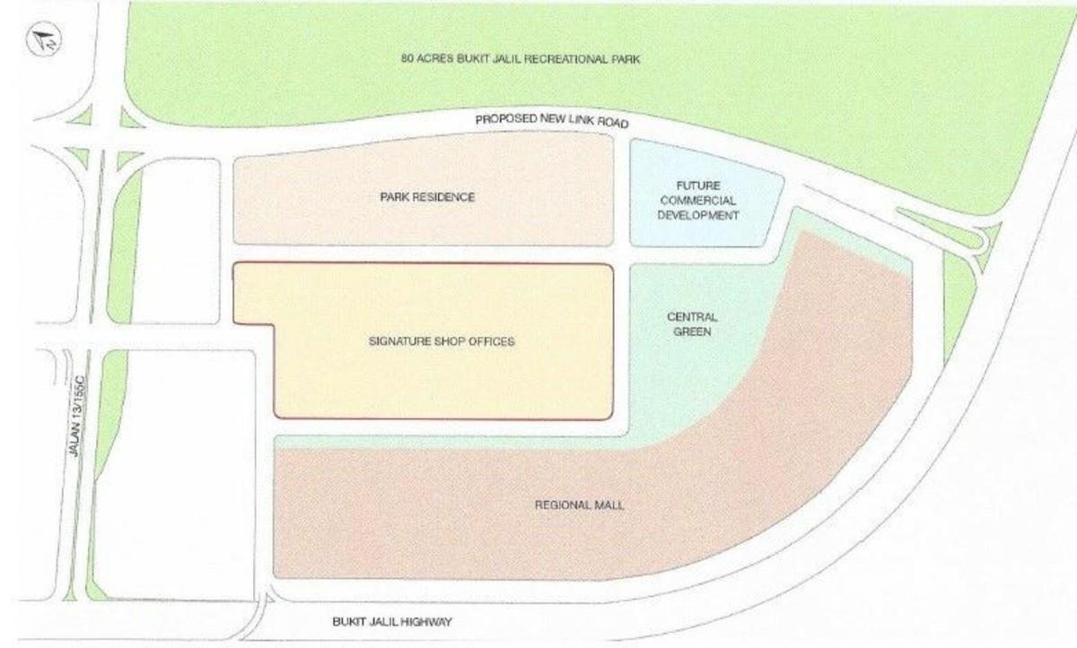 Master Plan of Pavilion @ Bukit Jalil City