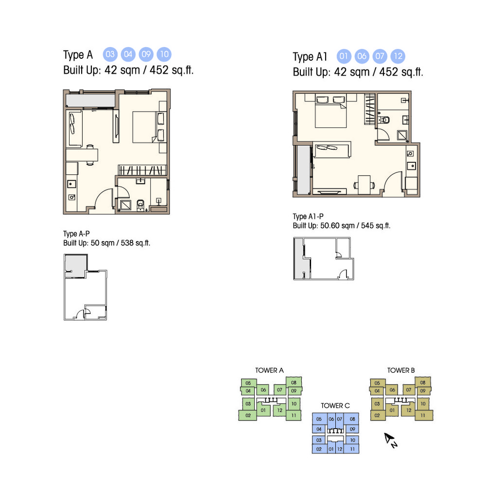 Equine Residence Type A/A-P/A1/A1-P Floor Plan
