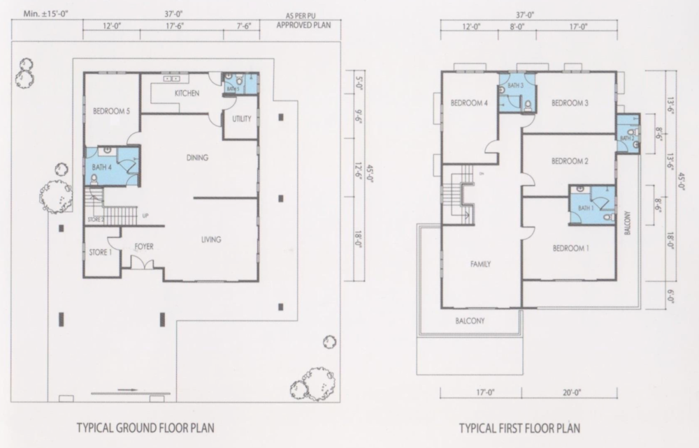 Bandar Seri Botani Seri Tasik Botani Phase 5.2 Bungalow Floor Plan