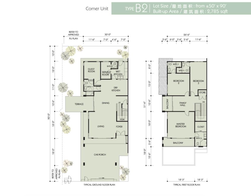 Bandar Seri Botani Seri Teratai Phase 6.1A Type B2 Floor Plan