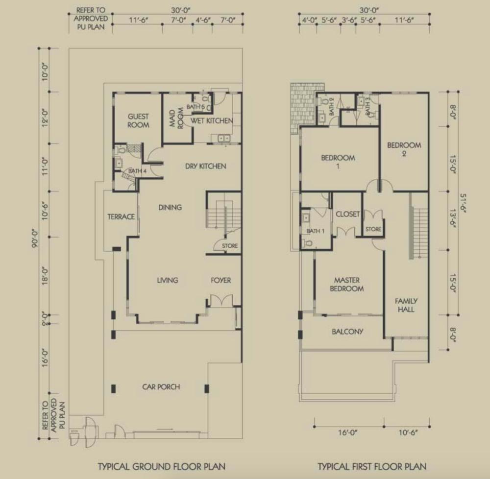 Bandar Seri Botani Seri Teratai Phase 6.1A (1) Type A1 Floor Plan