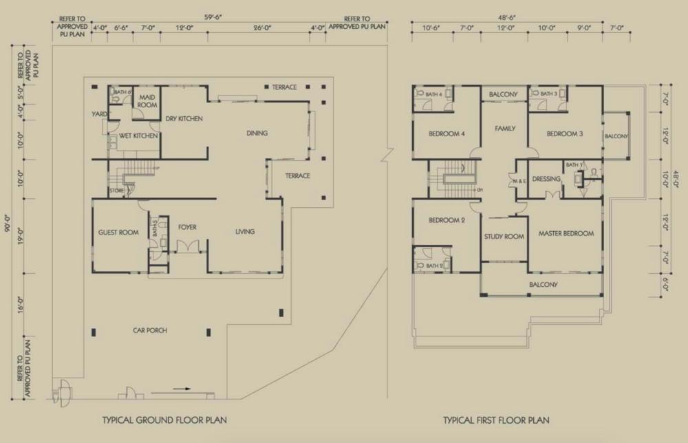 Bandar Seri Botani Seri Teratai Phase 6.1A (1) Type C Floor Plan