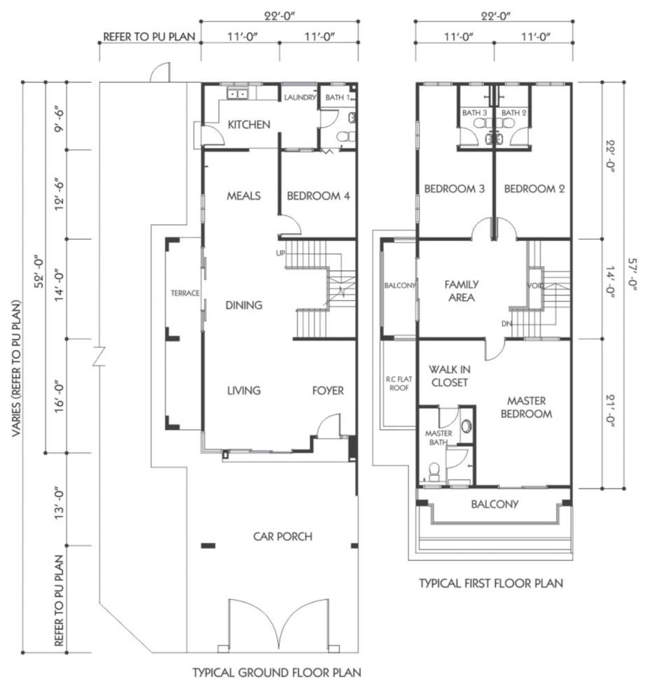 Bandar Seri Botani Seri Beringin Phase 7.3 (1) Type A4 Floor Plan