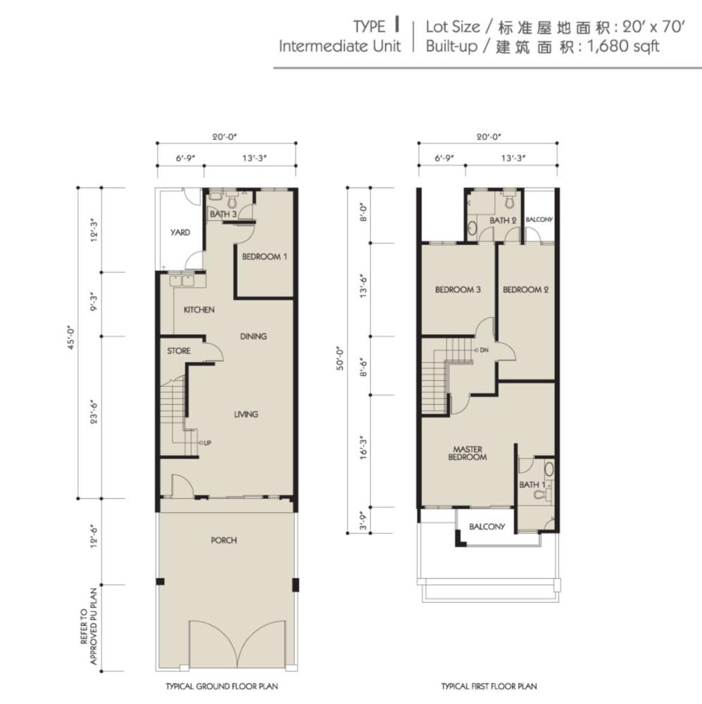 Bandar Seri Botani Seri Sutera Phase 8.1A Type I Floor Plan