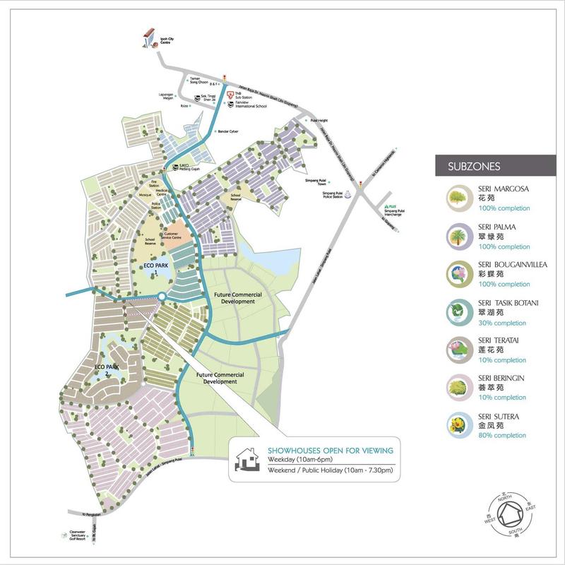 Master Plan of Bandar Seri Botani