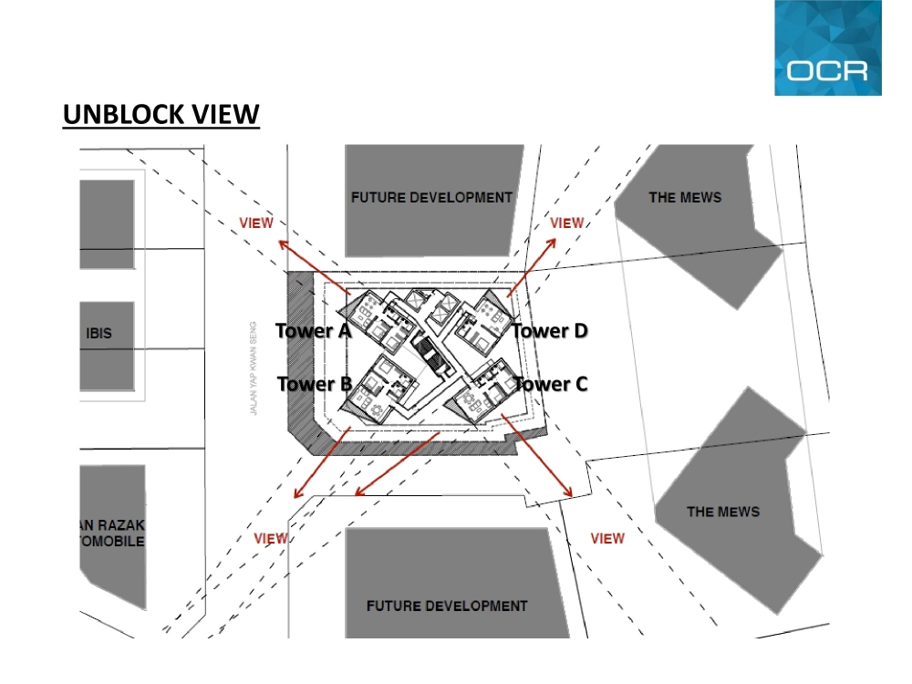 Site Plan of Isola KLCC