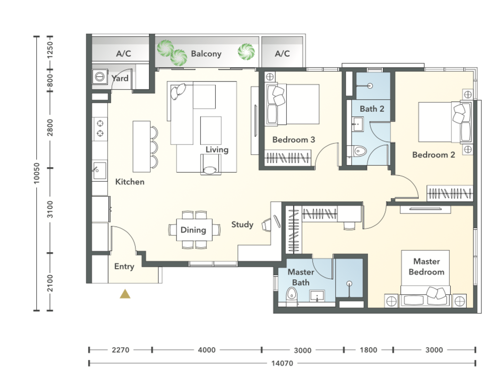 South Brooks Type C2 Floor Plan