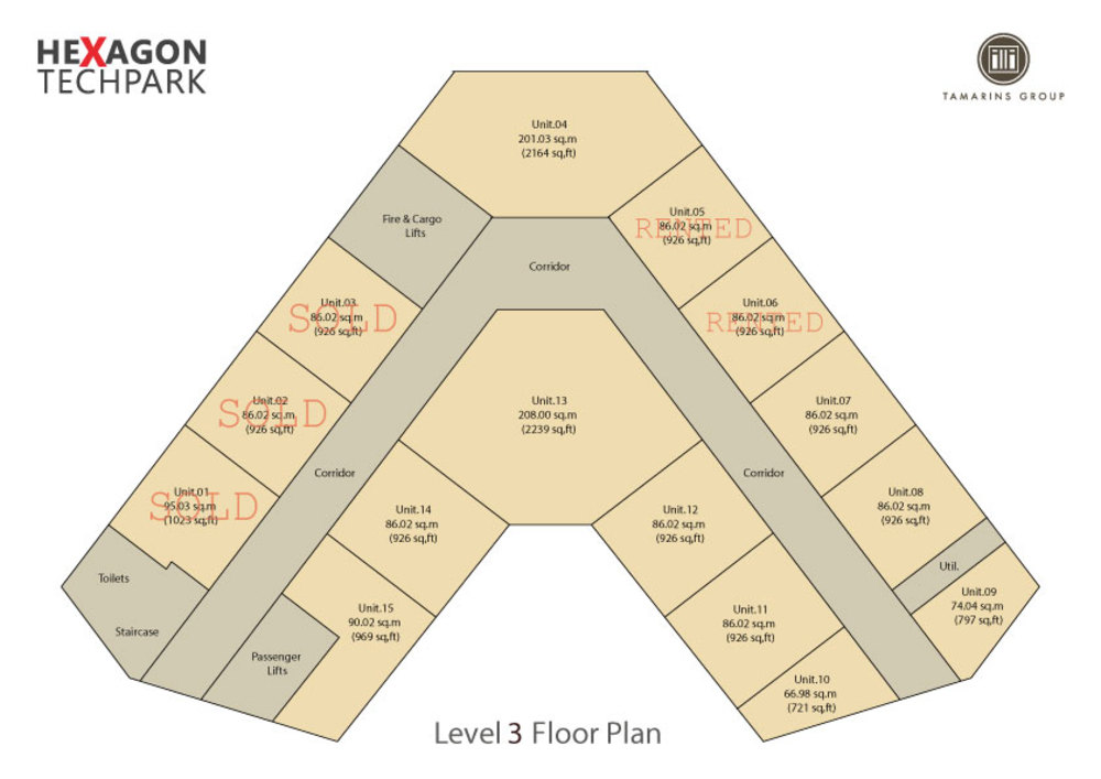 Hexagon Tech Park  Level 3 Floor Plan