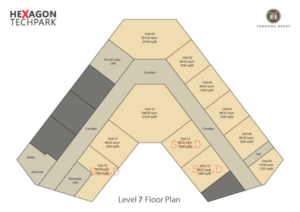 Hexagon Tech Park  Level 7 Floor Plan