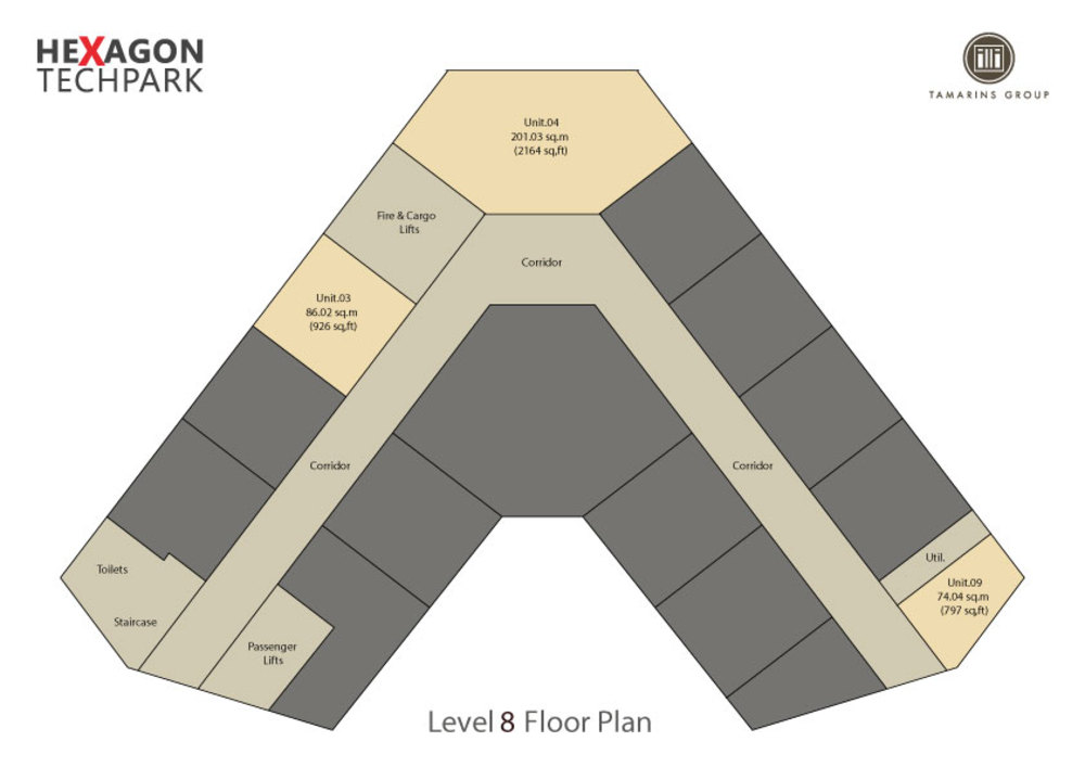 Hexagon Tech Park  Level 8 Floor Plan