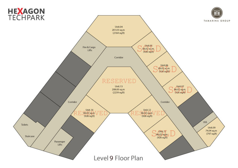 Hexagon Tech Park  Level 9 Floor Plan